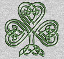 Shamrock, Knot, St Patricks Day, Celtic, Celt, Irish, Ireland, Eire, Luck, Lucky One Piece - Long Sleeve