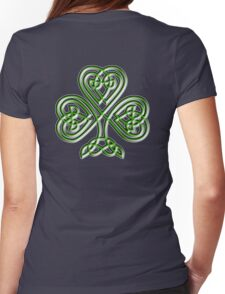 Shamrock, Knot, St Patricks Day, Celtic, Celt, Irish, Ireland, Eire, Luck, Lucky Womens Fitted T-Shirt