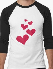 VALENTINES HEARTS Men's Baseball ¾ T-Shirt