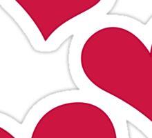 VALENTINES HEARTS Sticker