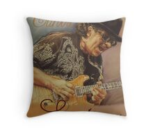 Carlos Santana (pastel drawing) Throw Pillow