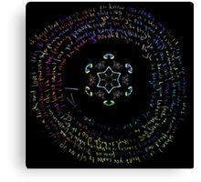 Hymn for the weekend Coldplay Lyrics Canvas Print