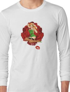 Ivy and Roses Pinup Long Sleeve T-Shirt