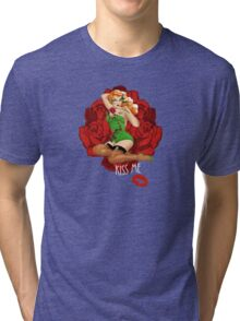 Ivy and Roses Pinup Tri-blend T-Shirt