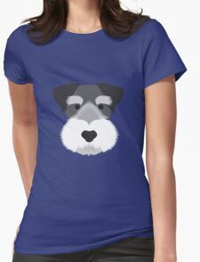 Miniature Schnauzer Womens Fitted T-Shirt
