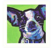 Chihuahua Dog Bright colorful pop dog art Art Print