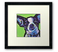 Chihuahua Dog Bright colorful pop dog art Framed Print