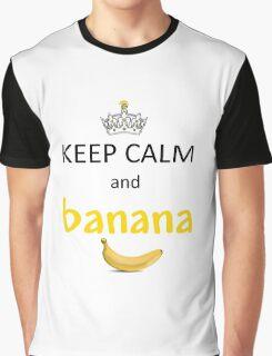Keep Calm and Banana (Minions) Graphic T-Shirt