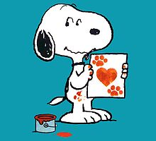 painting snoopy hand by gamefantasia