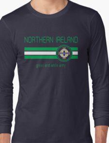 Euro 2016 Football - Northern Ireland (Away Blue) Long Sleeve T-Shirt