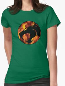 Fire cats Womens Fitted T-Shirt