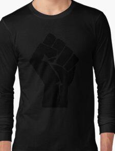 Fist of Resistance - Stencil Print Long Sleeve T-Shirt