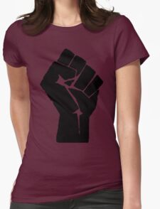 Fist of Resistance - Stencil Print Womens Fitted T-Shirt