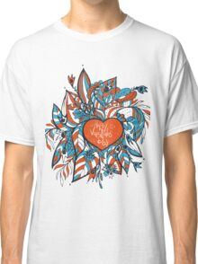 sketchy love and hearts doodles, vector illustration Classic T-Shirt