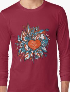 sketchy love and hearts doodles, vector illustration Long Sleeve T-Shirt