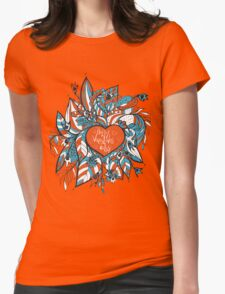 sketchy love and hearts doodles, vector illustration Womens Fitted T-Shirt