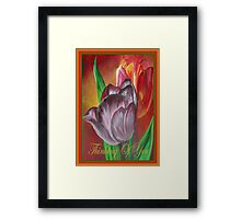 Thinking Of You - Two Tulips Framed Print