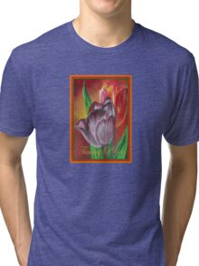 Thinking Of You - Two Tulips Tri-blend T-Shirt