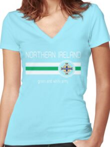 Euro 2016 Football - Northern Ireland (Home Green) Women's Fitted V-Neck T-Shirt