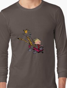 calvin and hobbes speed Long Sleeve T-Shirt