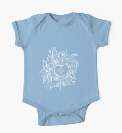 sketchy love and hearts doodles, vector illustration One Piece - Short Sleeve