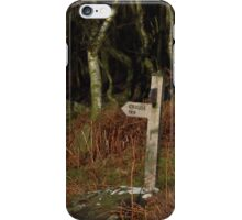 Footpath Sign to the Grouse Inn iPhone Case/Skin