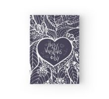 sketchy love and hearts doodles, vector illustration Hardcover Journal