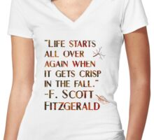 Crisp In The Fall Women's Fitted V-Neck T-Shirt