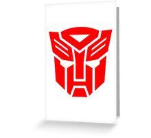 Auto Bot logo Greeting Card