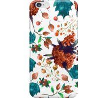 Christmas botanical watercolor pattern iPhone Case/Skin