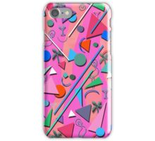 80s pop retro pattern 3 iPhone Case/Skin