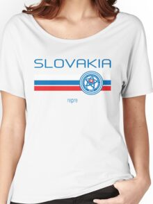 Euro 2016 Football - Slovakia (Home White) Women's Relaxed Fit T-Shirt