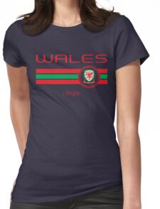 Euro 2016 Football - Wales (Away Yellow) Womens Fitted T-Shirt