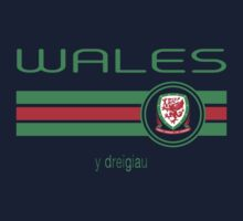 Euro 2016 Football - Wales (Home Red) One Piece - Short Sleeve