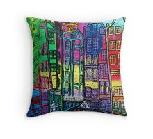 Amsterdam, centre Red Light district. Throw Pillow