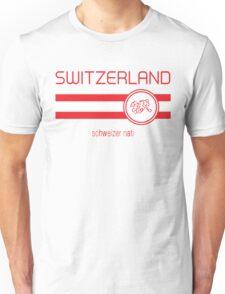 Euro 2016 Football - Switzerland (Away White) Unisex T-Shirt