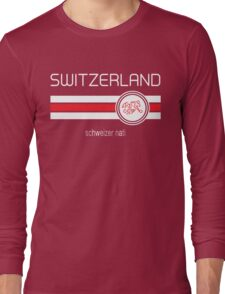 Euro 2016 Football - Switzerland (Home Red) Long Sleeve T-Shirt