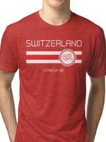 Euro 2016 Football - Switzerland (Home Red) Tri-blend T-Shirt