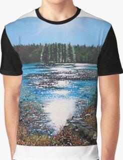 'Light Shines on Bass Lake' Graphic T-Shirt