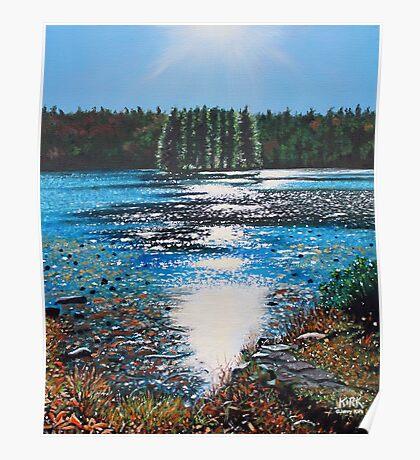 'Light Shines on Bass Lake' Poster