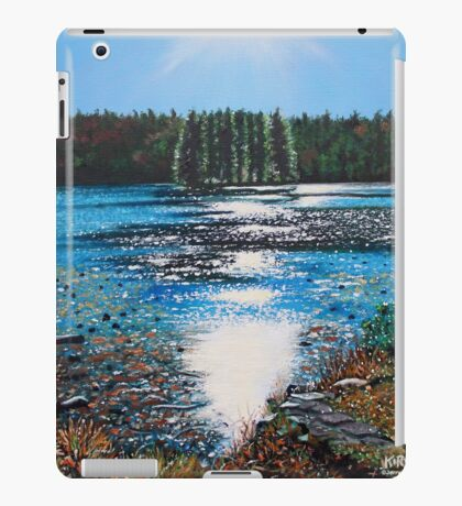 'Light Shines on Bass Lake' iPad Case/Skin