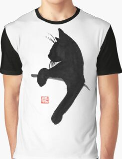 cat is waiting Graphic T-Shirt
