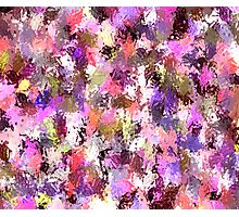 Abstract Pink Paint Splatter Photographic Print