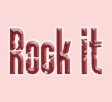 ROCK, Rock Music, Rock it, Music, Rock Bands, Rock & Roll, Rockers, on Black Kids Tee
