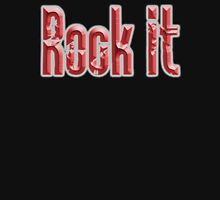 ROCK, Rock Music, Rock it, Music, Rock Bands, Rock & Roll, Rockers, on Black Unisex T-Shirt