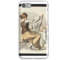 British School 18th century Title A Seated Woman Holding a Picture Supported by a Child iPhone Case/Skin