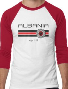 Euro 2016 Football - Albania (Home Red) Men's Baseball ¾ T-Shirt