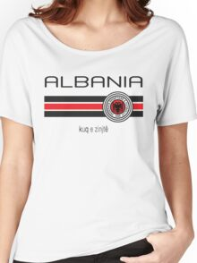 Euro 2016 Football - Albania (Home Red) Women's Relaxed Fit T-Shirt