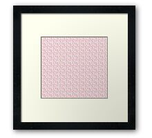 Pink Floral Background Framed Print