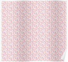 Pink Floral Background Poster